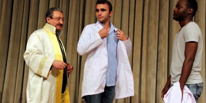 Veteriner hekim adayları önlüklerini giydi