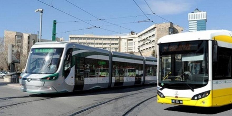 Konya'da otobüs ve tramvaylar ücretsiz oldu!