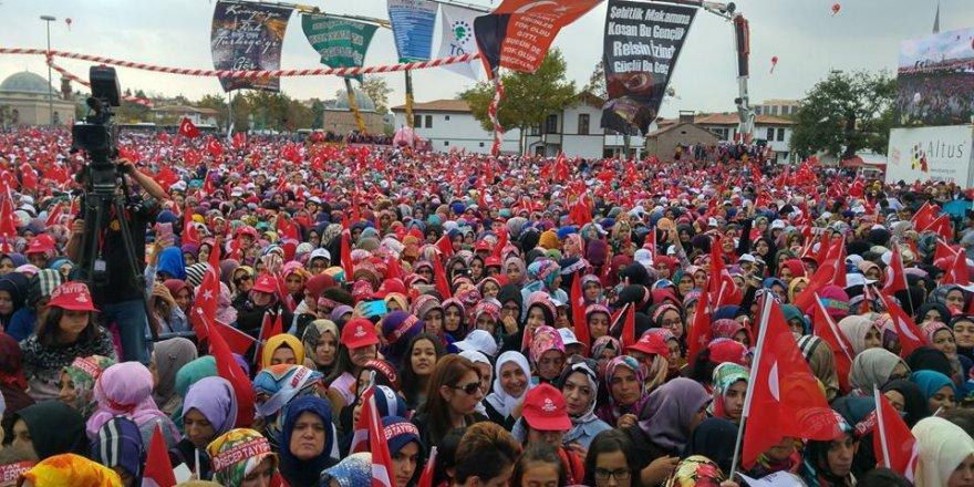 Konya'da Erdoğan mitingi için heyecan zirvede