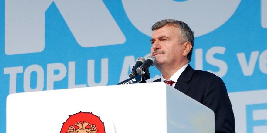 """""""Konya Cumhurbaşkanımızın arkasında dimdik duruyor"""""""