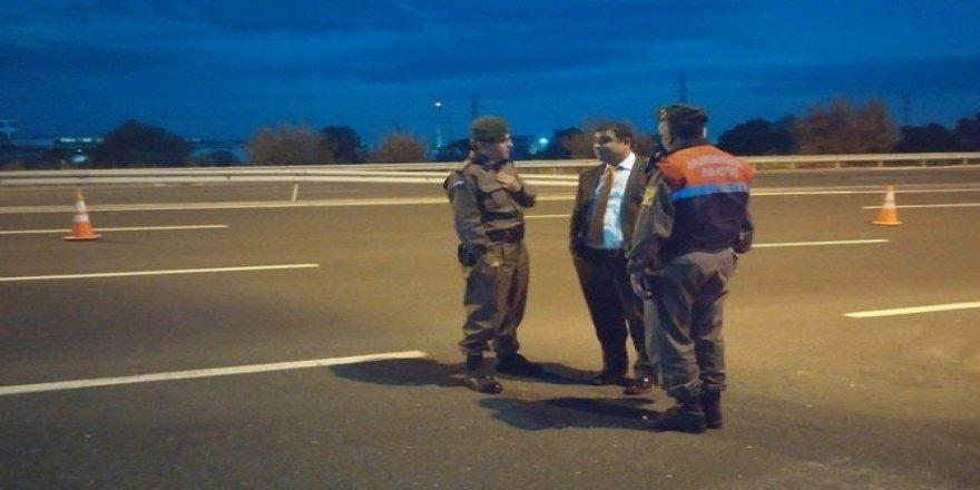 Kızıltoprak, jandarma bölgesinde yol uygulamalarını denetledi