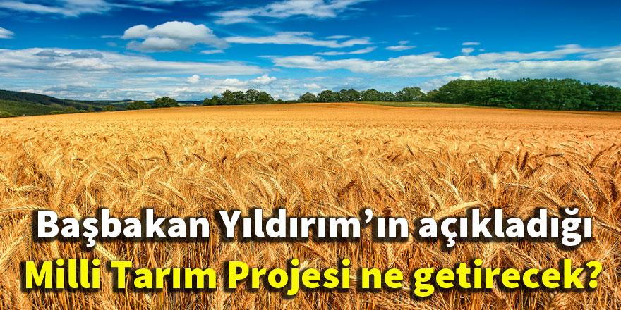 Başbakan Yıldırım'ın açıkladığı Milli Tarım Projesi ne getirecek?