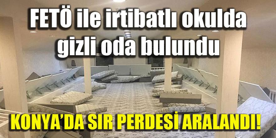 Konya'da FETÖ ile irtibatlı okulda gizli oda bulundu