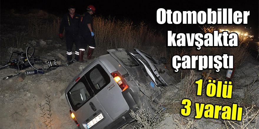 Konya'da otomobiller kavşakta çarpıştı: 1 ölü, 3 yaralı