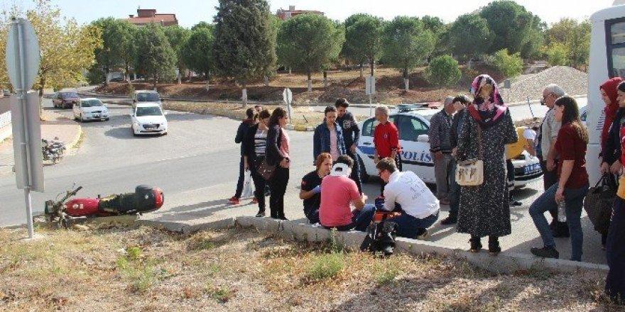 Çan'da trafik kazası;  1 yaralı