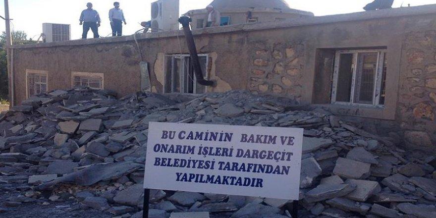 Terör örgütü PKK'nın zarar verdiği camiler onarılıyor