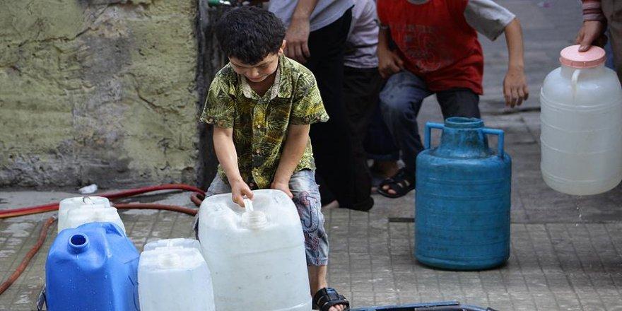 Halep'te su şebekesinin yüzde 80'i hizmet dışı