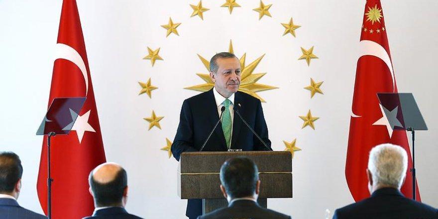 Erdoğan kanaat önderleri ile bir araya geldi