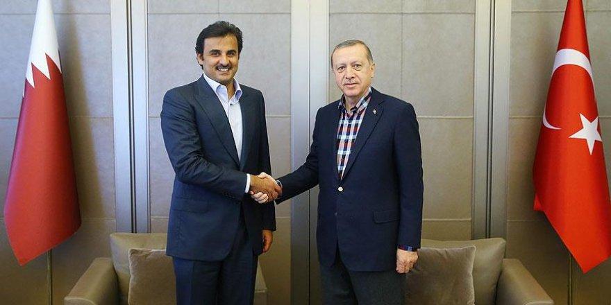Erdoğan ile Katar Emiri Şeyh Al Sani bir araya geldi