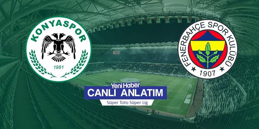 İkinci yarı başladı | Konyaspor - Fenerbahçe: 0-1