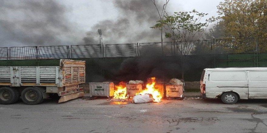 Çöpteki yangını vatandaş söndürdü