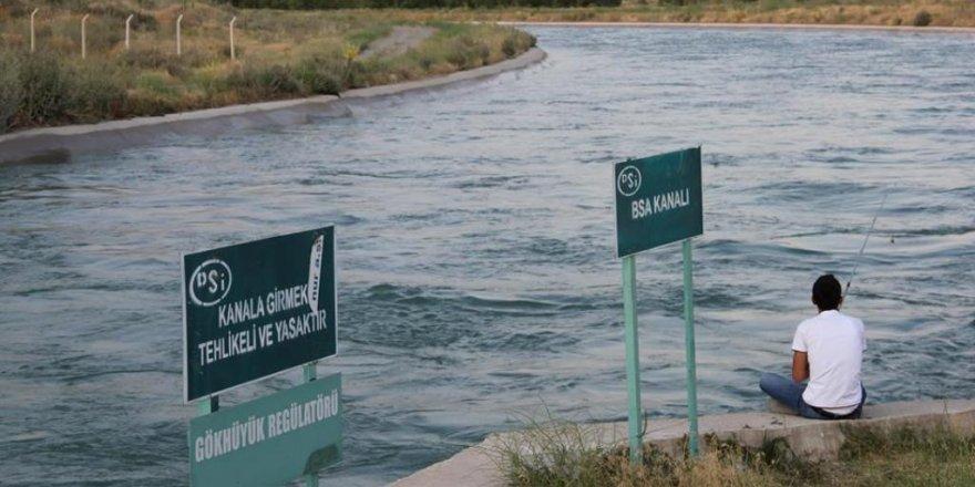 Sulama kanalına korkuluk önlemi