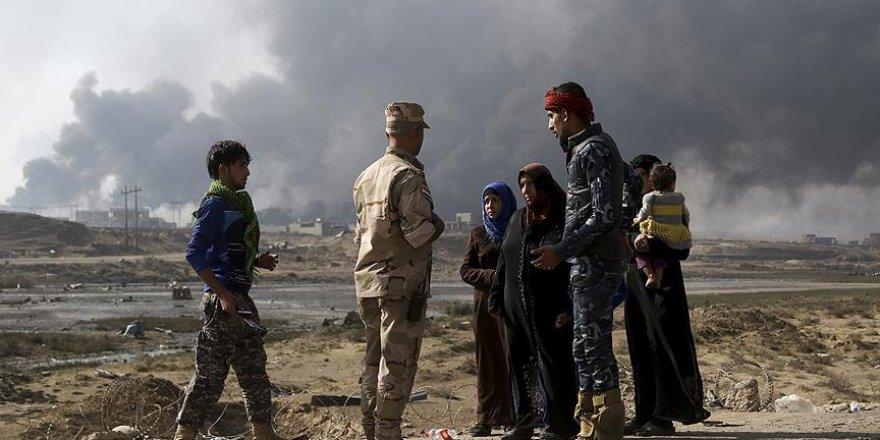 Musul'da 10 bin 500'den fazla kişi yerinden edildi