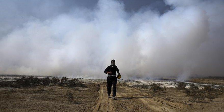 Musul'da zehir saçan kükürt tesisi yanmaya devam ediyor