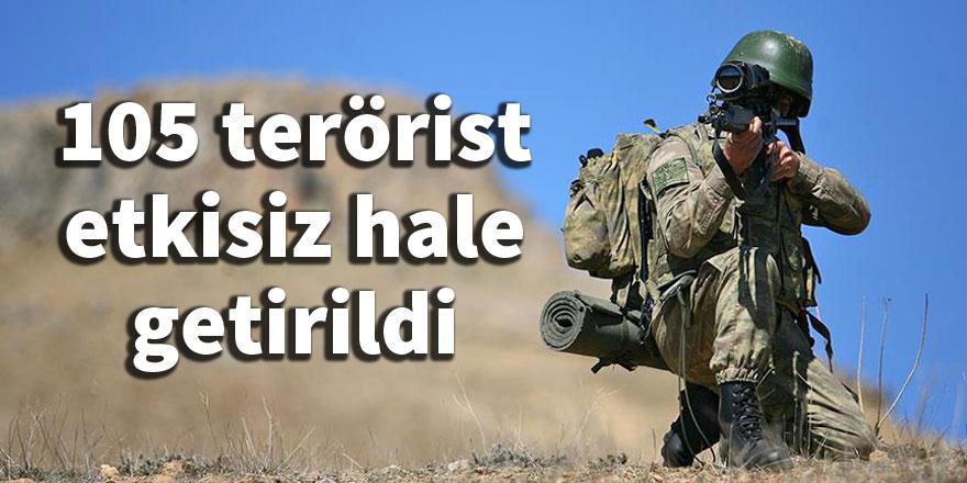 TSK: 105 terörist etkisiz hale getirildi