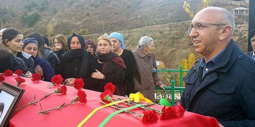 HDP Milletvekili Önlü terörist cenazesine katıldı