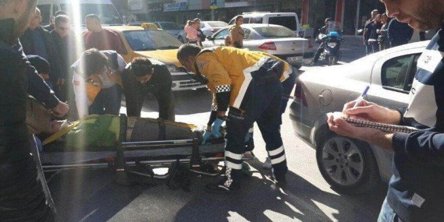 Denizli'de trafik kazası: 1 yaralı