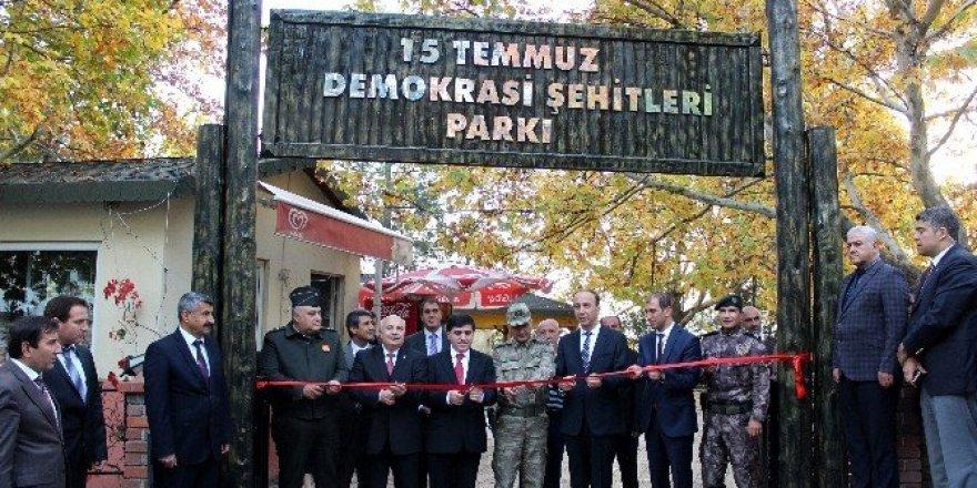 Egemenlik Parkı 15 Temmuz Demokrasi Şehitleri Parkı oldu