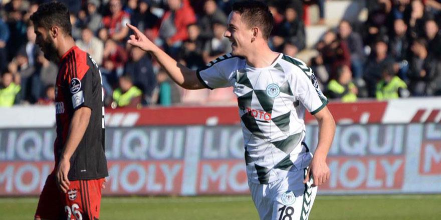 Konyaspor'un genç oyuncusu Amir ilk golünü attı