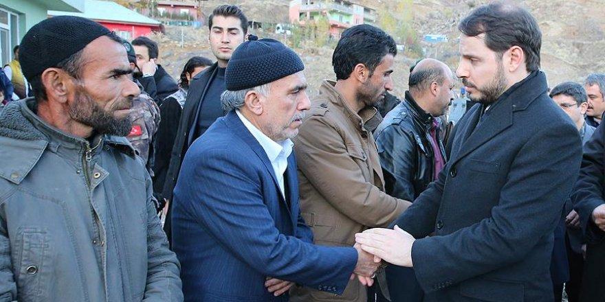 Bakan Albayrak Siirt'teki maden faciası bölgesinde