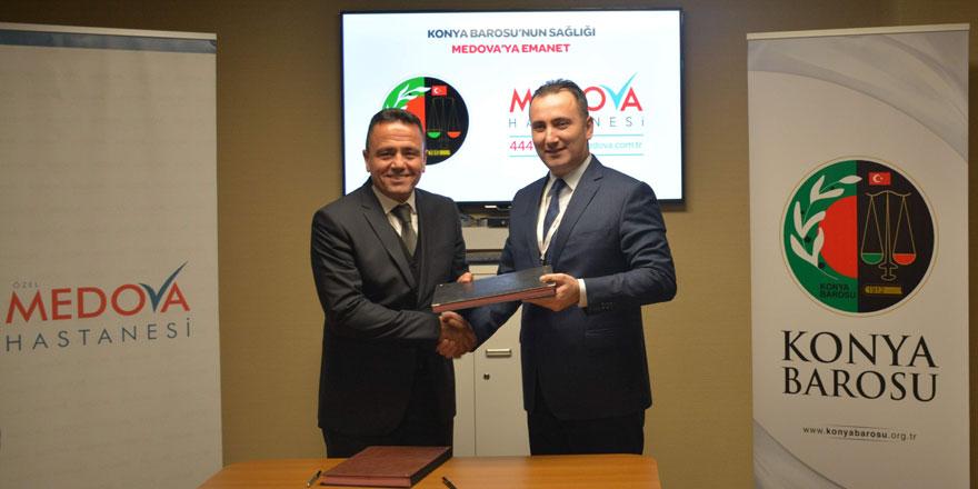 Medova Hastanesi ve Konya Barosu arasında protokol