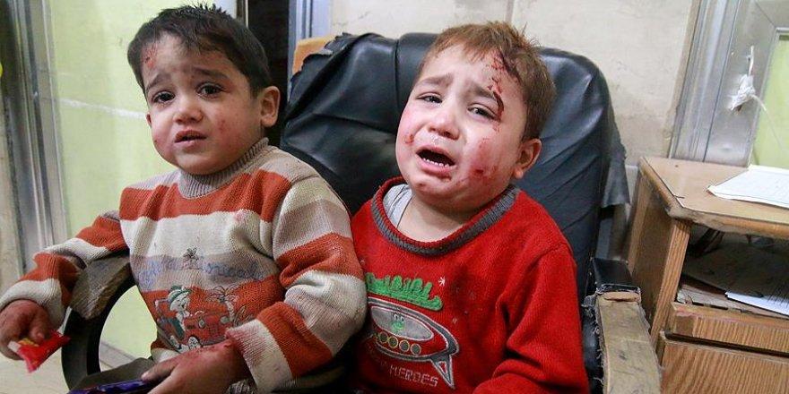 Suriyeli miniklerden Avrupa'ya 'savaşı durdurun' çağrısı