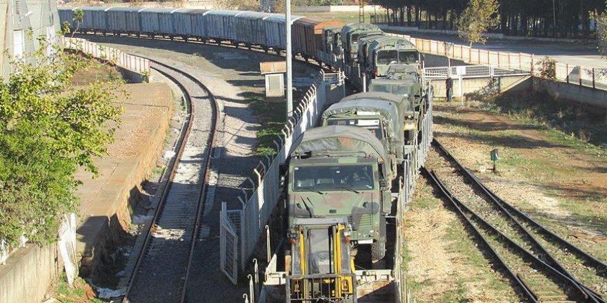 İstanbul'dan sevk edilen askeri araçlar Gaziantep'te