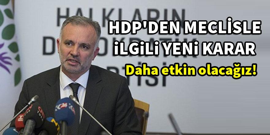 HDP yeni kararını Kartal mitinginde açıkladı