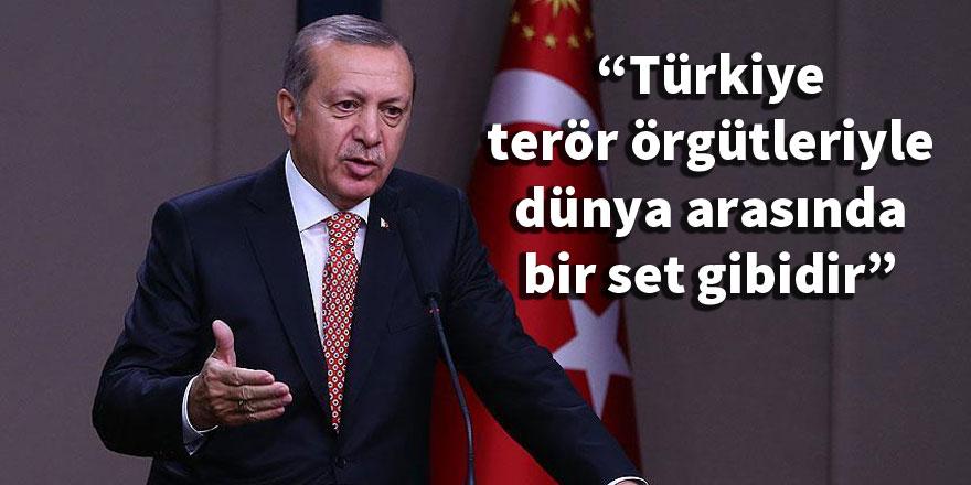 Erdoğan: Türkiye, terör örgütleriyle dünya arasında bir set gibidir