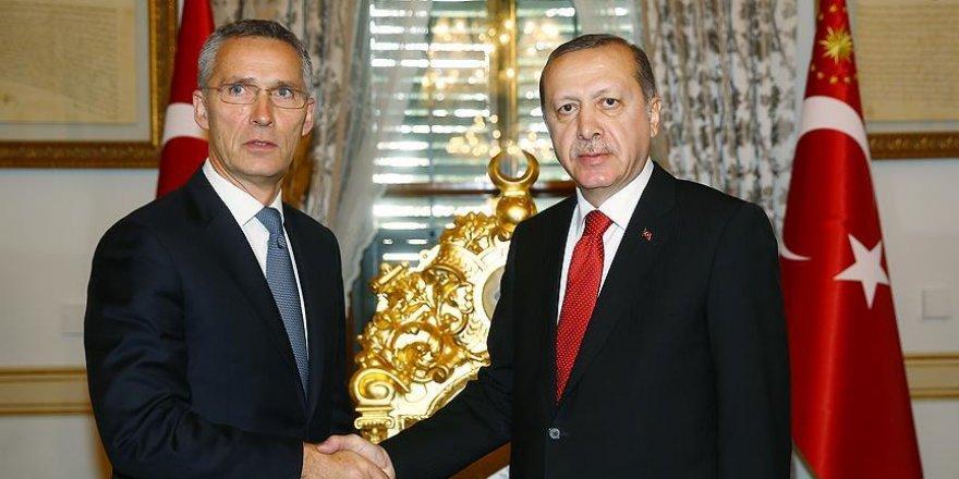 Cumhurbaşkanı Erdoğan NATO Genel Sekreterini kabul etti