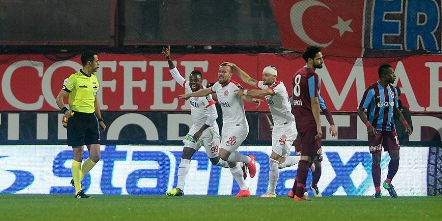 Trabzonspor evinde kaybetti