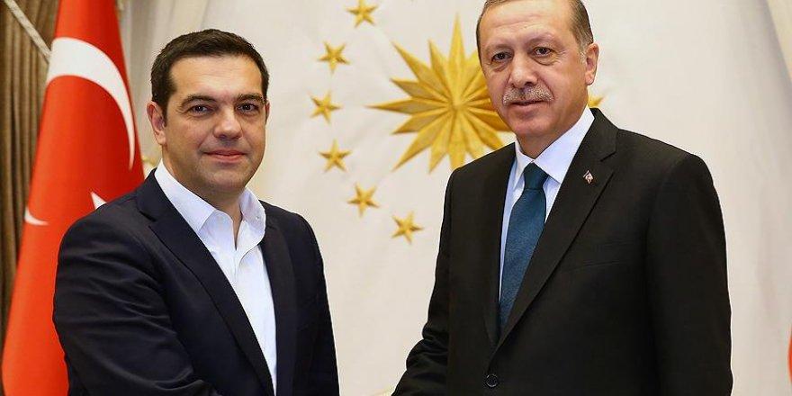 Cumhurbaşkanı Erdoğan ile Çipras Kıbrıs'ı görüştü