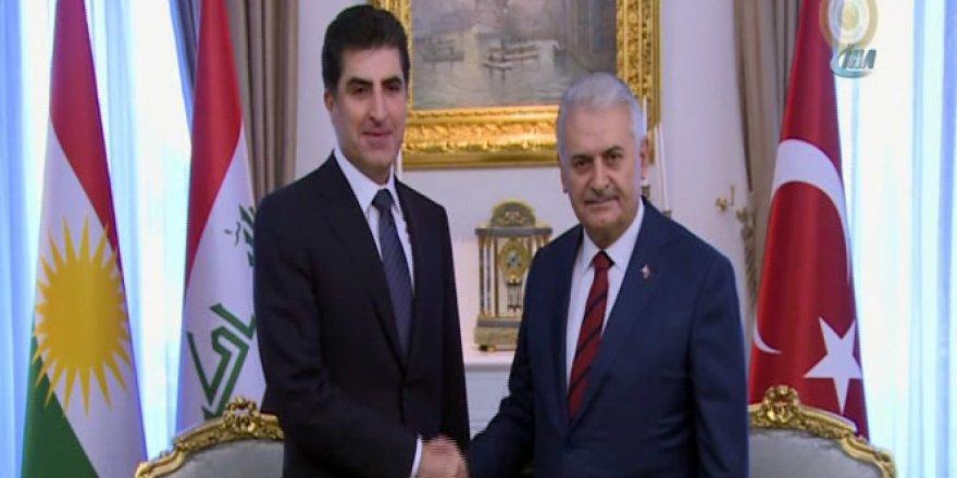 Başbakan Yıldırım Neçirvan Barzani ile bir araya geldi