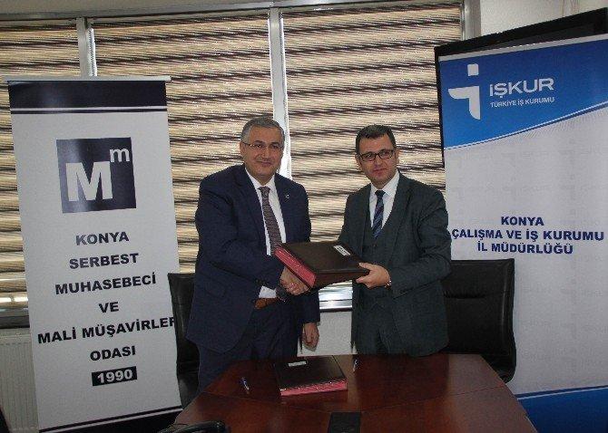 Konya SMMMO ile İŞ-KUR girişimcilik kursları için protokol imzaladı