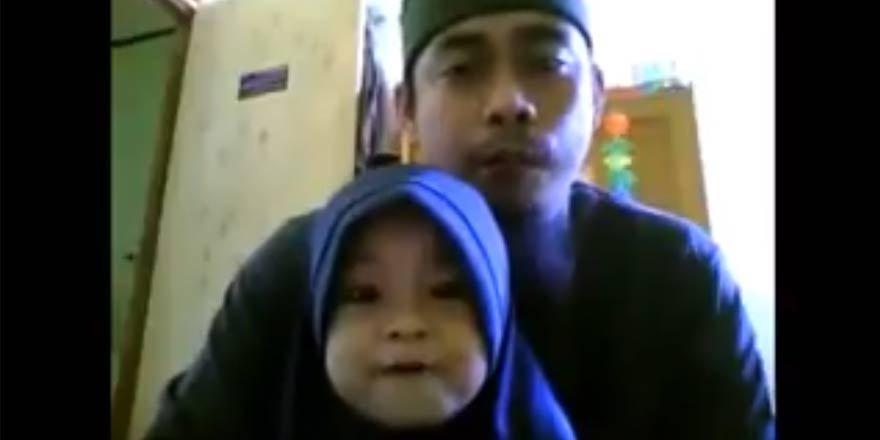 Endonezyalı baba ve kızın müthiş Kur'an tilaveti
