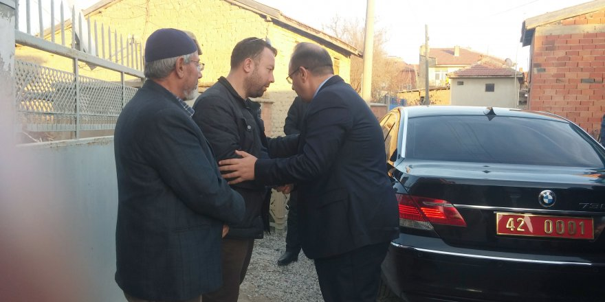 Vali Canbolat şehit Kaymakamın ailesini ziyaret etti