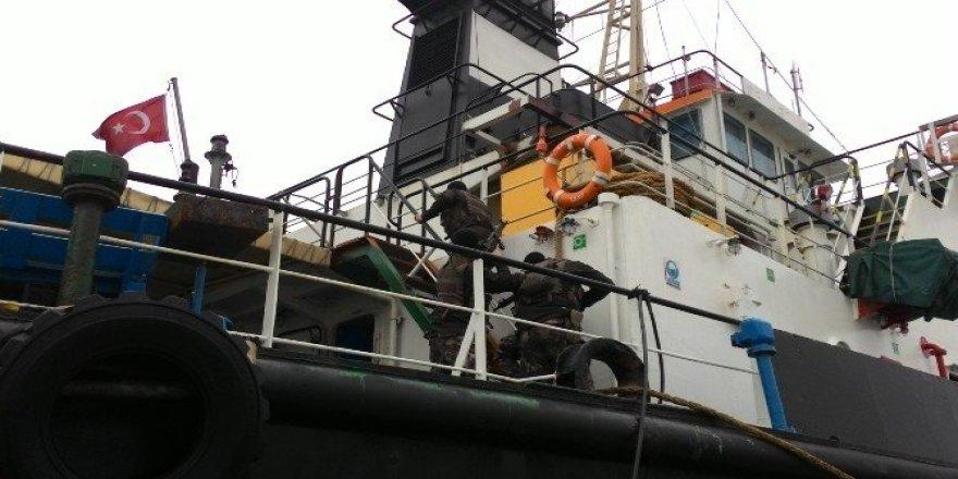 Kepez Limanı'nda terör tatbikatı