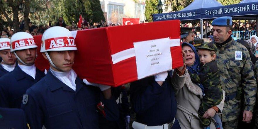 Şehit Piyade Uzman Çavuş Mehmet Arıyeşil toprağa verildi