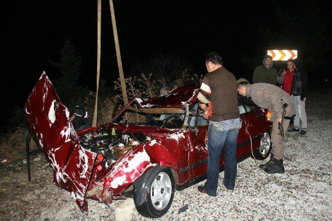 Otomobil denize uçtu :1 ölü, 1 yaralı