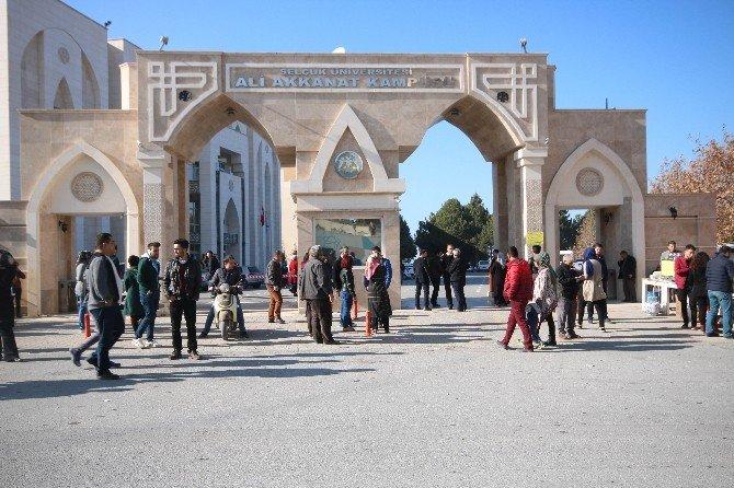 Beyşehir'de ilk kez AÖF sınavı yapıldı