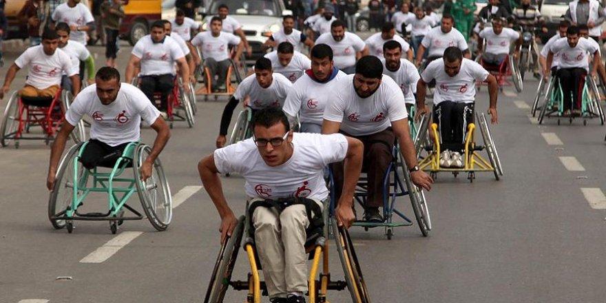 Gazze'de 'engelliler maratonu'