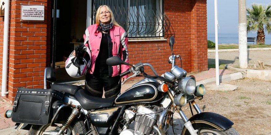 Mahallenin motosikletli kadın muhtarı