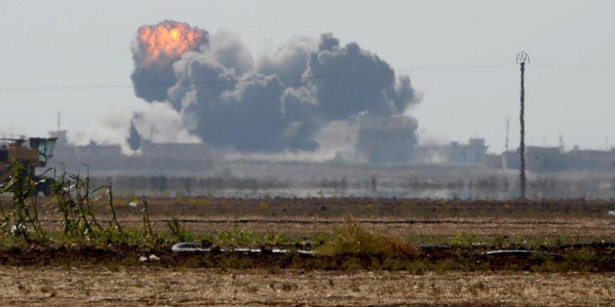 Fırat Kalkanı Harekatı'nda DEAŞ'a ait hedefler vuruldu