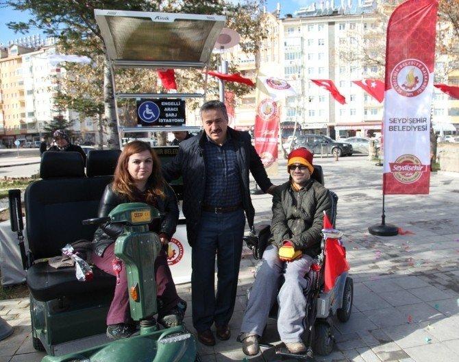 Seydişehir Belediyesi'nden engelli aracı şarj istasyonu