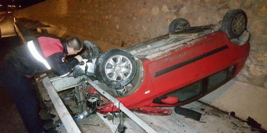 Samsun'da otomobil takla attı: 5 yaralı