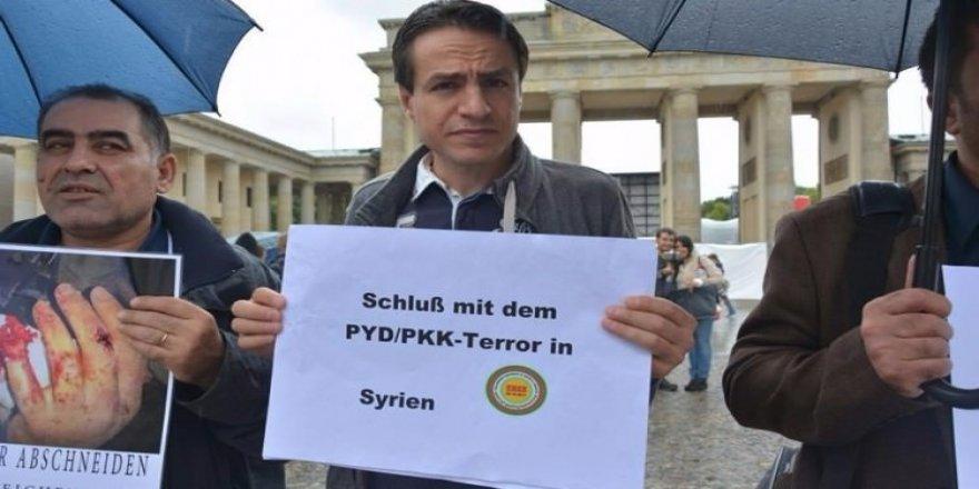 Kürtler Avrupa'nın göbeğinde PKK/PYD'yi protesto etti