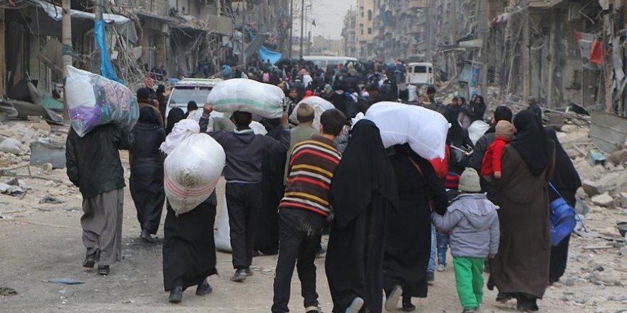 """""""Halep'in doğusunda 10 günde 31 bin 500 kişi yerinden edildi"""""""