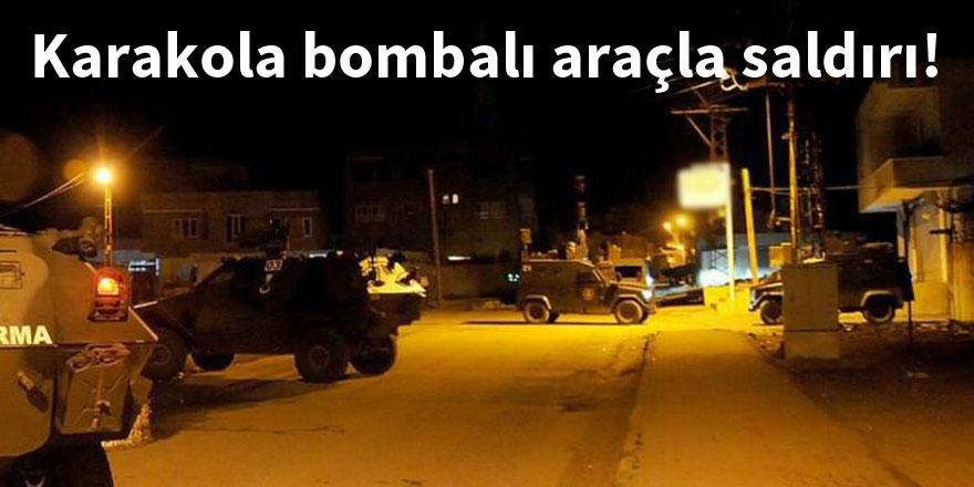 Karakola bombalı araçla saldırı