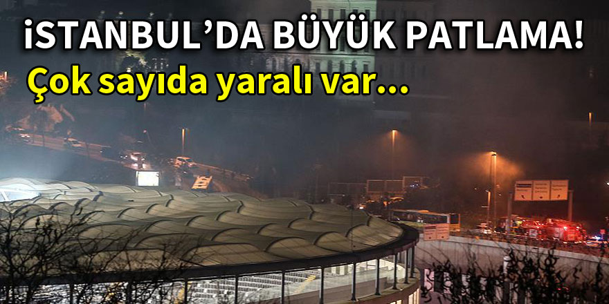 Beşiktaş Stadı yakınında büyük patlama!