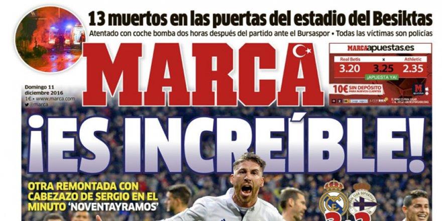 Dünyaca ünlü spor gazetesi Marca, logosuna Ay-Yıldız ekledi